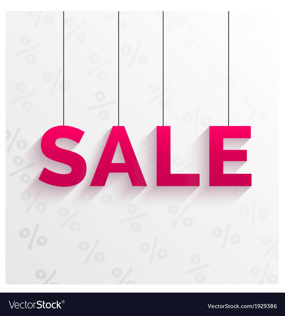 Sale tag  flat style design vector | Price: 1 Credit (USD $1)