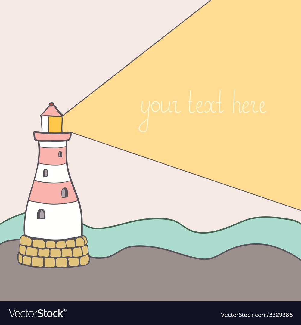 Shiplighthouse6 vector | Price: 1 Credit (USD $1)