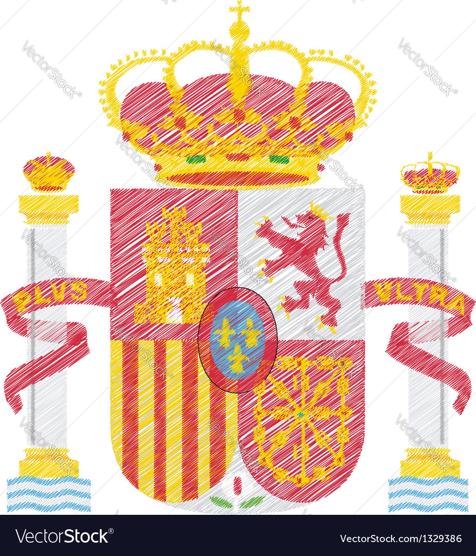 Spanish crest vector | Price: 1 Credit (USD $1)