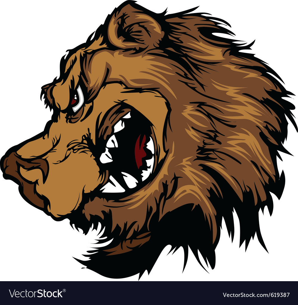 Bear grizzly mascot head cartoon vector | Price: 3 Credit (USD $3)