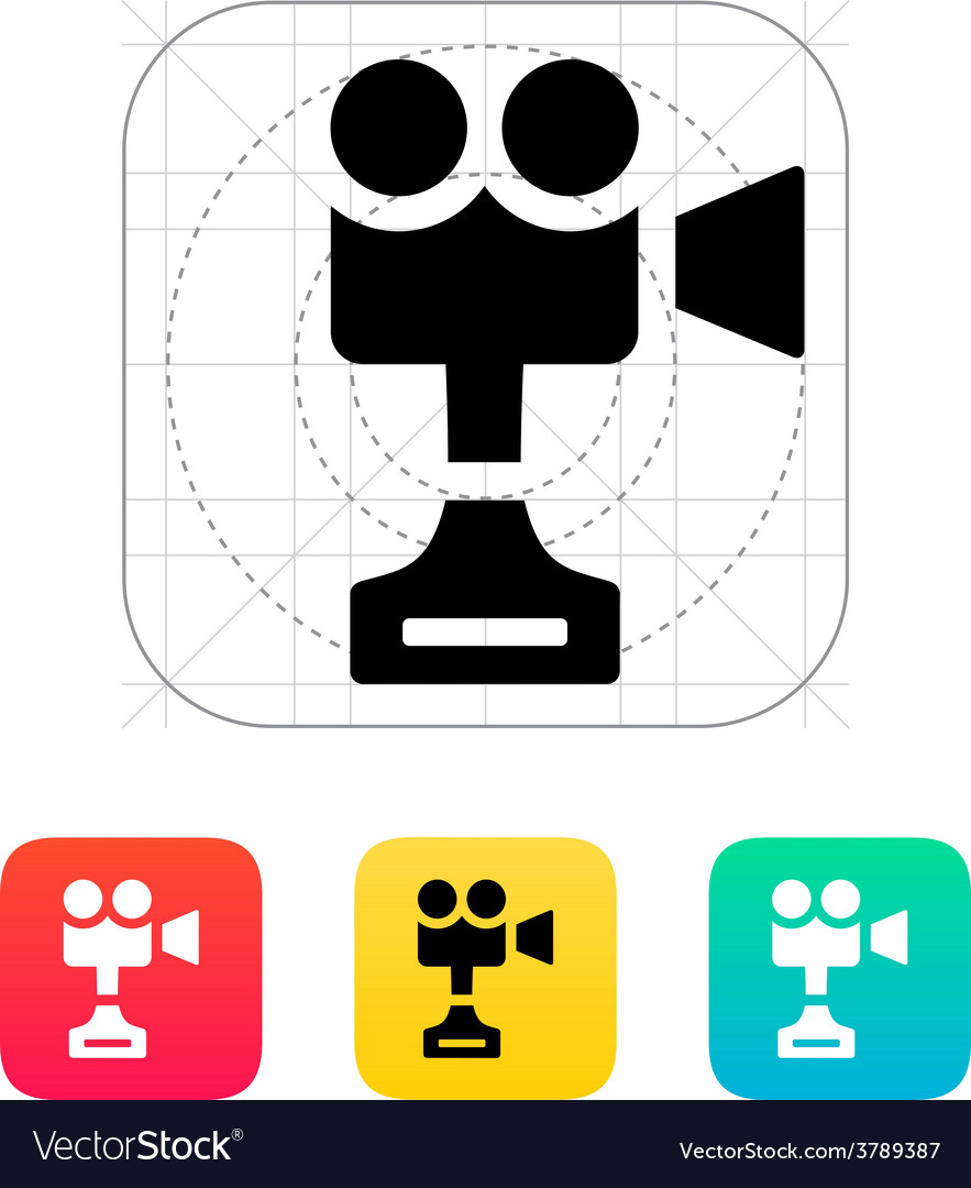 Camera cup icon on white background vector | Price: 1 Credit (USD $1)