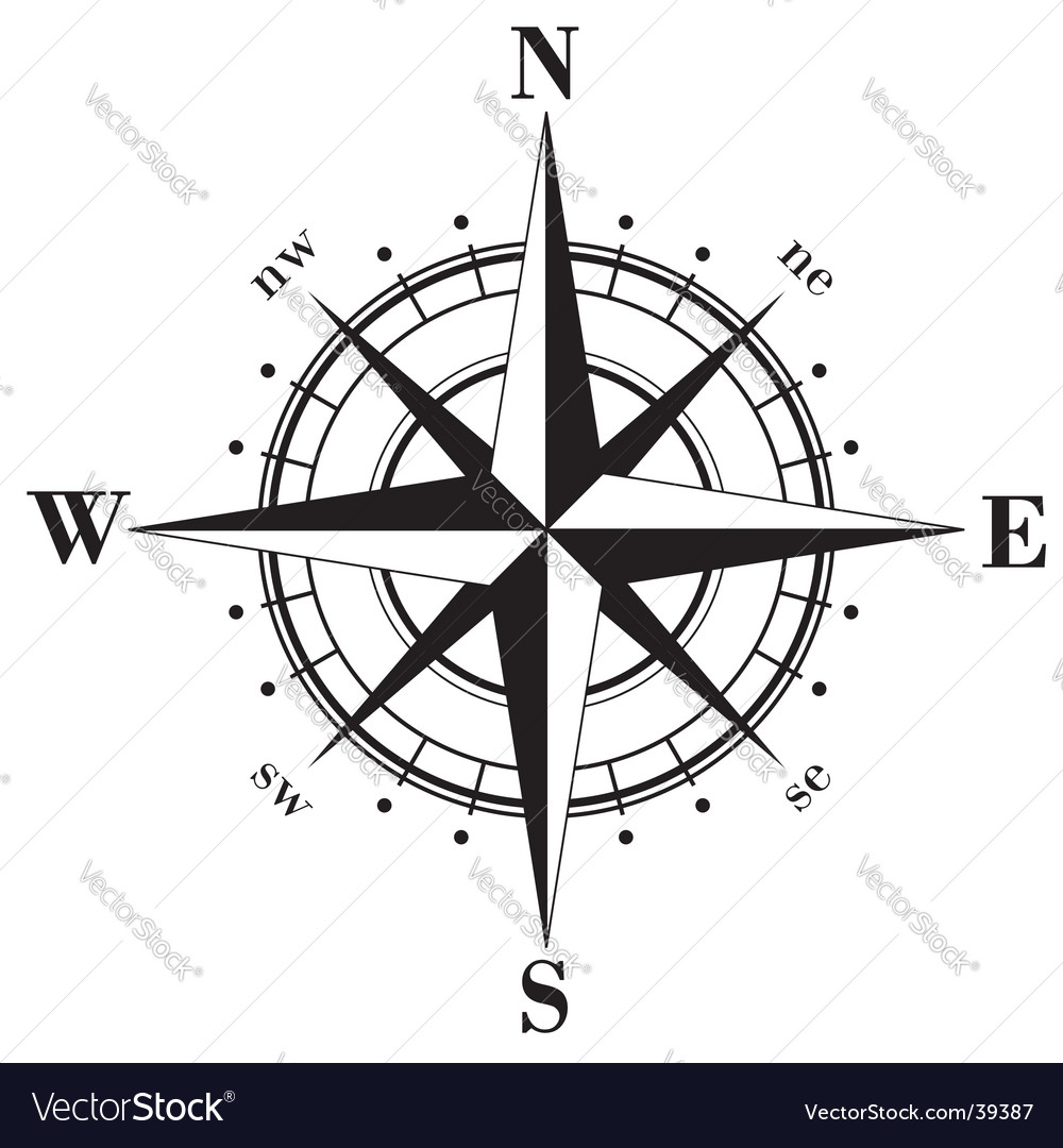 Compass rose vector | Price: 1 Credit (USD $1)