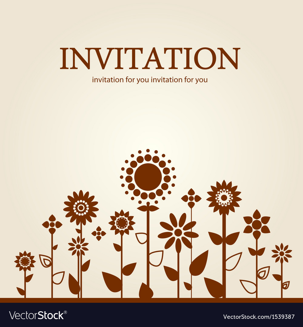 Decorative floral invitation vector | Price: 1 Credit (USD $1)