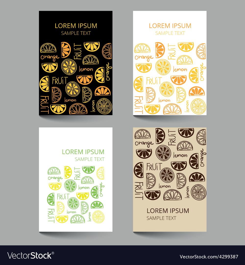 Document template with fruit citrus pattern vector | Price: 1 Credit (USD $1)