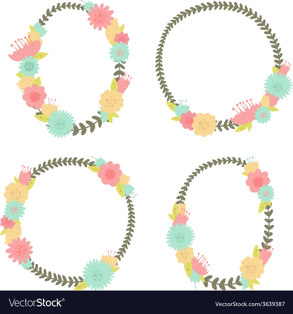 Flower vintage frame vector | Price: 1 Credit (USD $1)