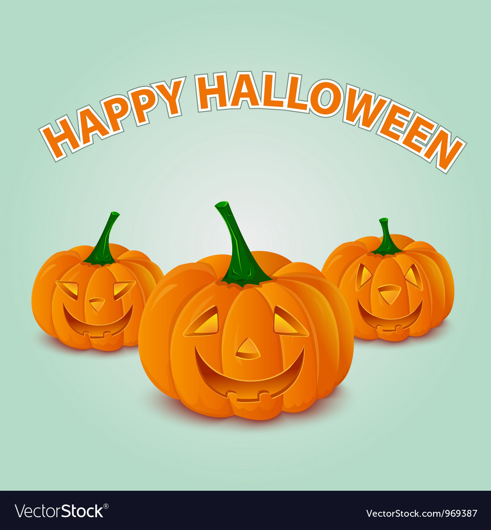 Halloween pumpkins card vector | Price: 1 Credit (USD $1)