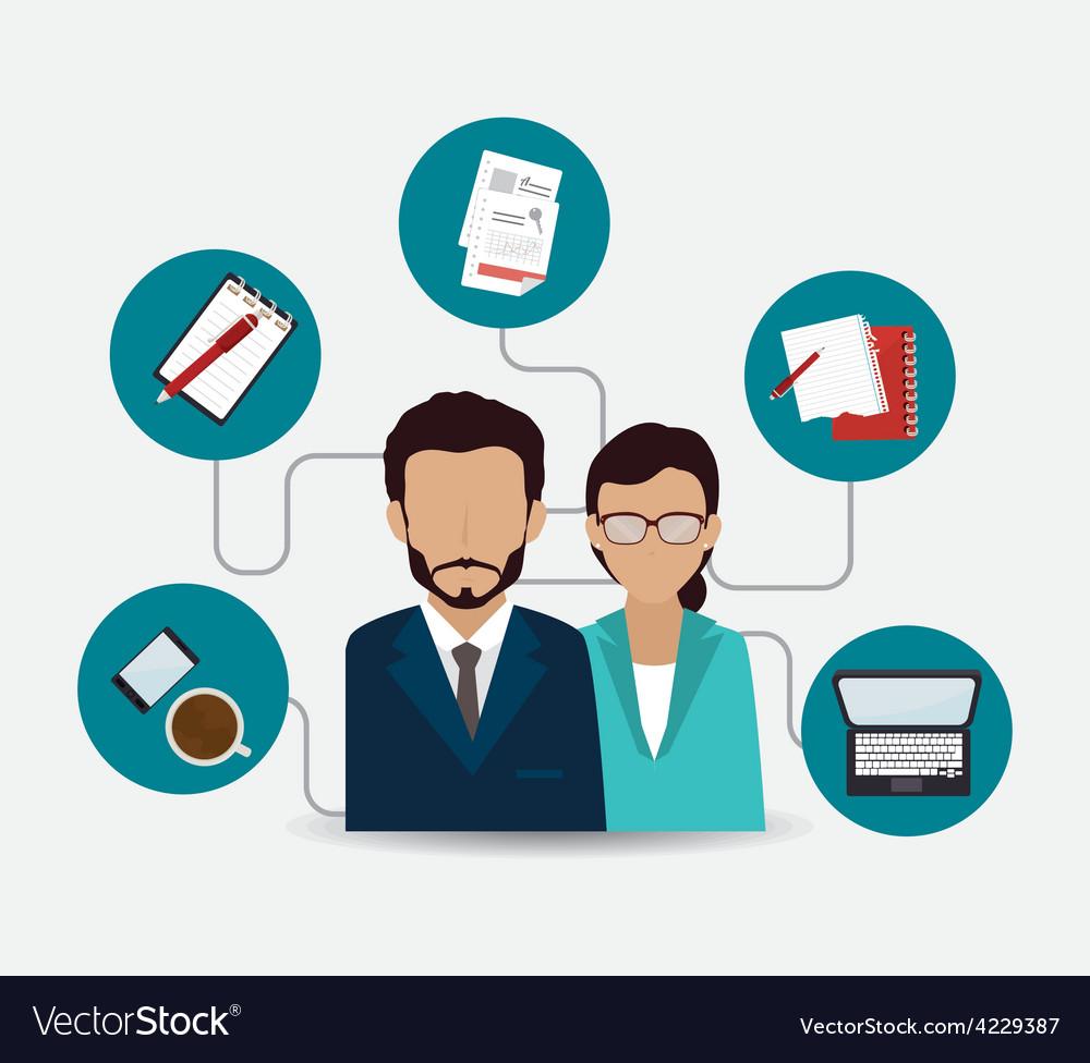 Human resources design vector   Price: 1 Credit (USD $1)