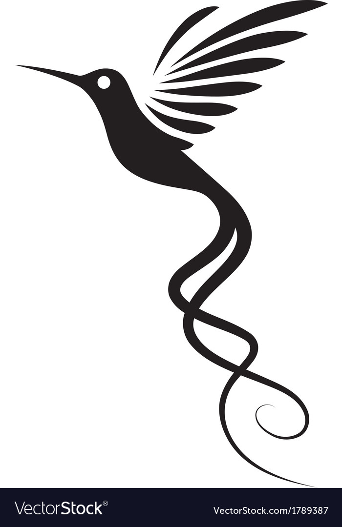 Hummingbird tattoo vector | Price: 1 Credit (USD $1)