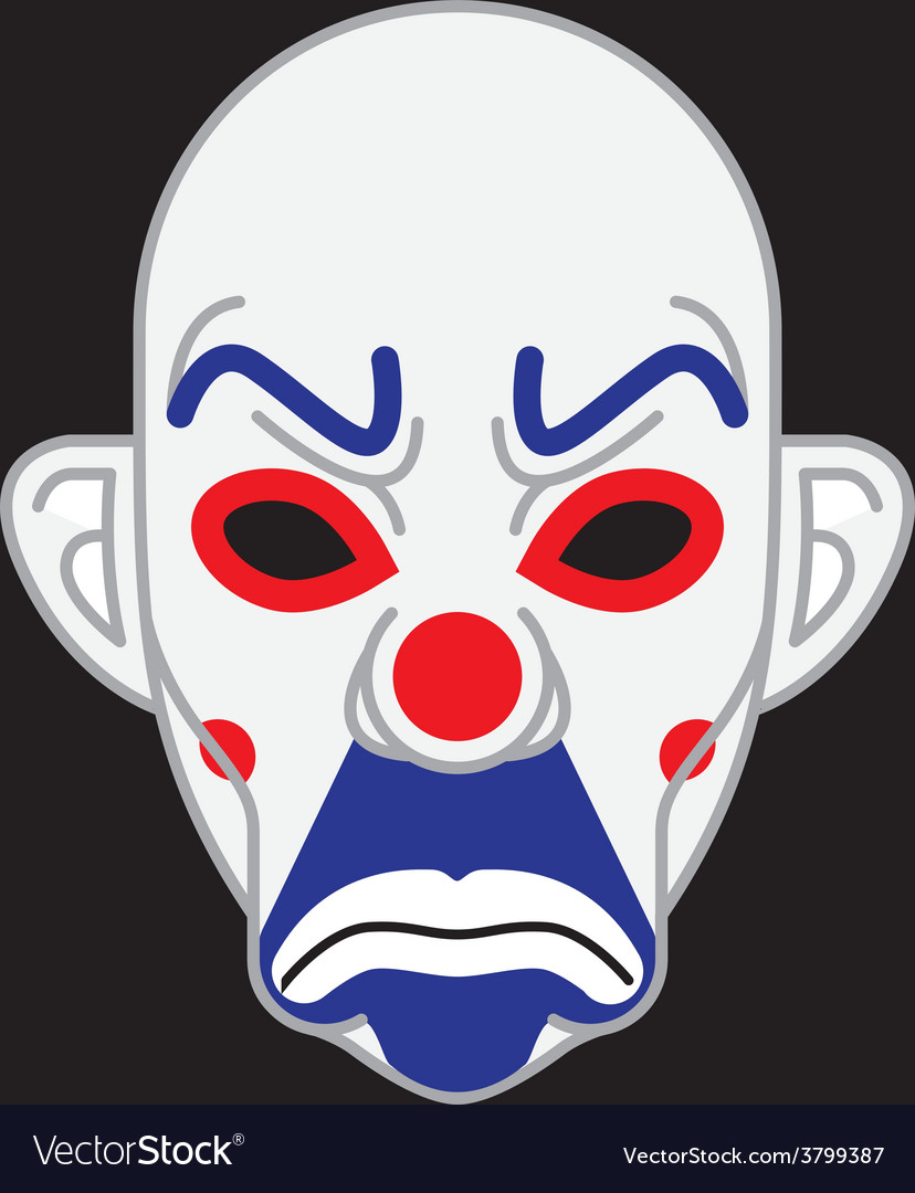 Joker mask vector | Price: 1 Credit (USD $1)
