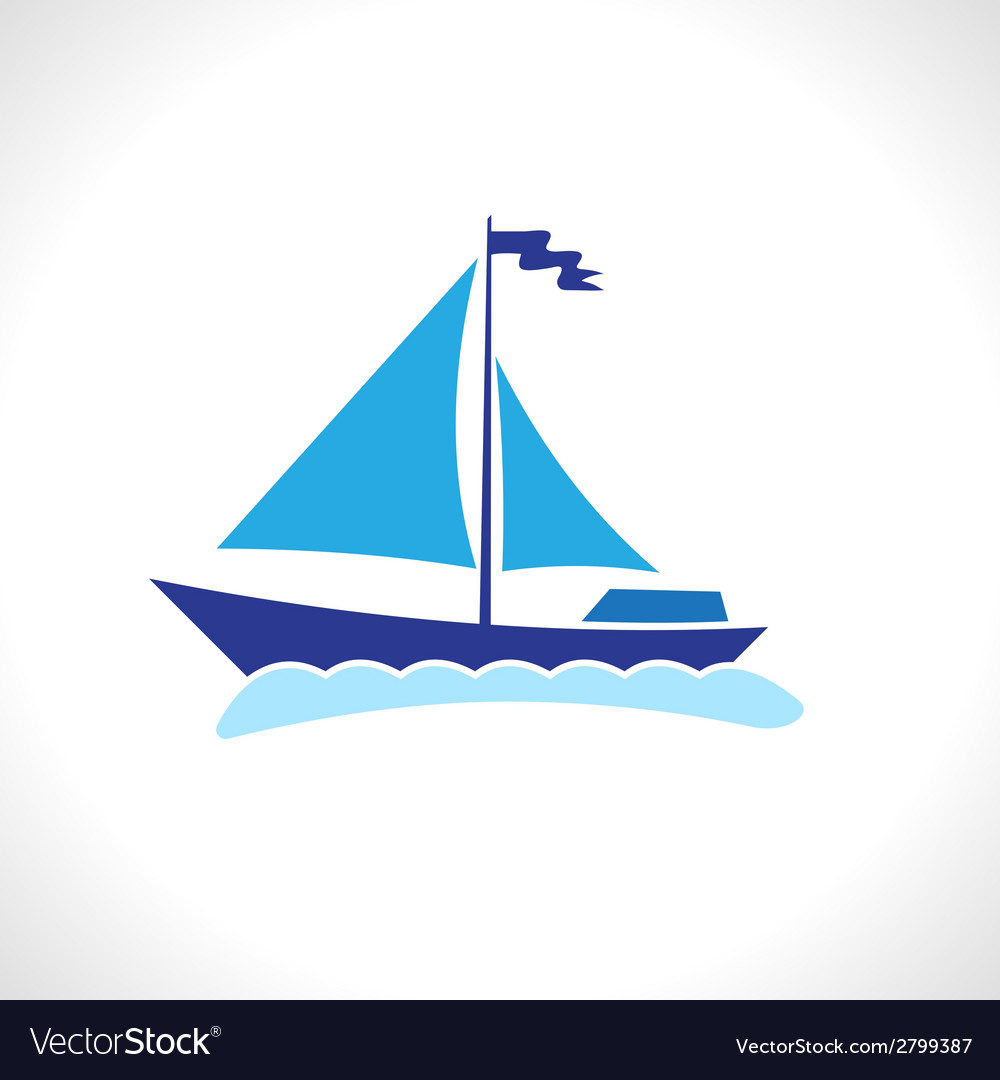 Sail ship isolated vector | Price: 1 Credit (USD $1)