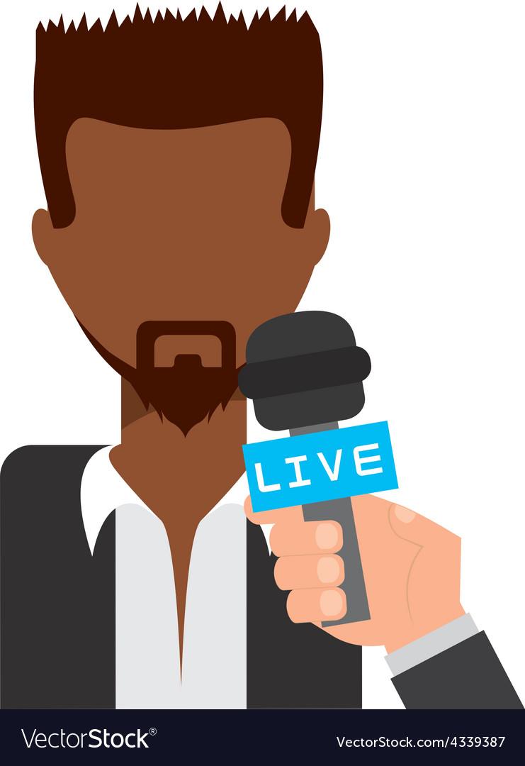 Tv interview vector | Price: 1 Credit (USD $1)