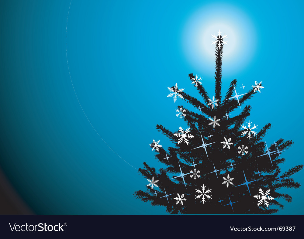 Winter background christmas tree vector | Price: 1 Credit (USD $1)