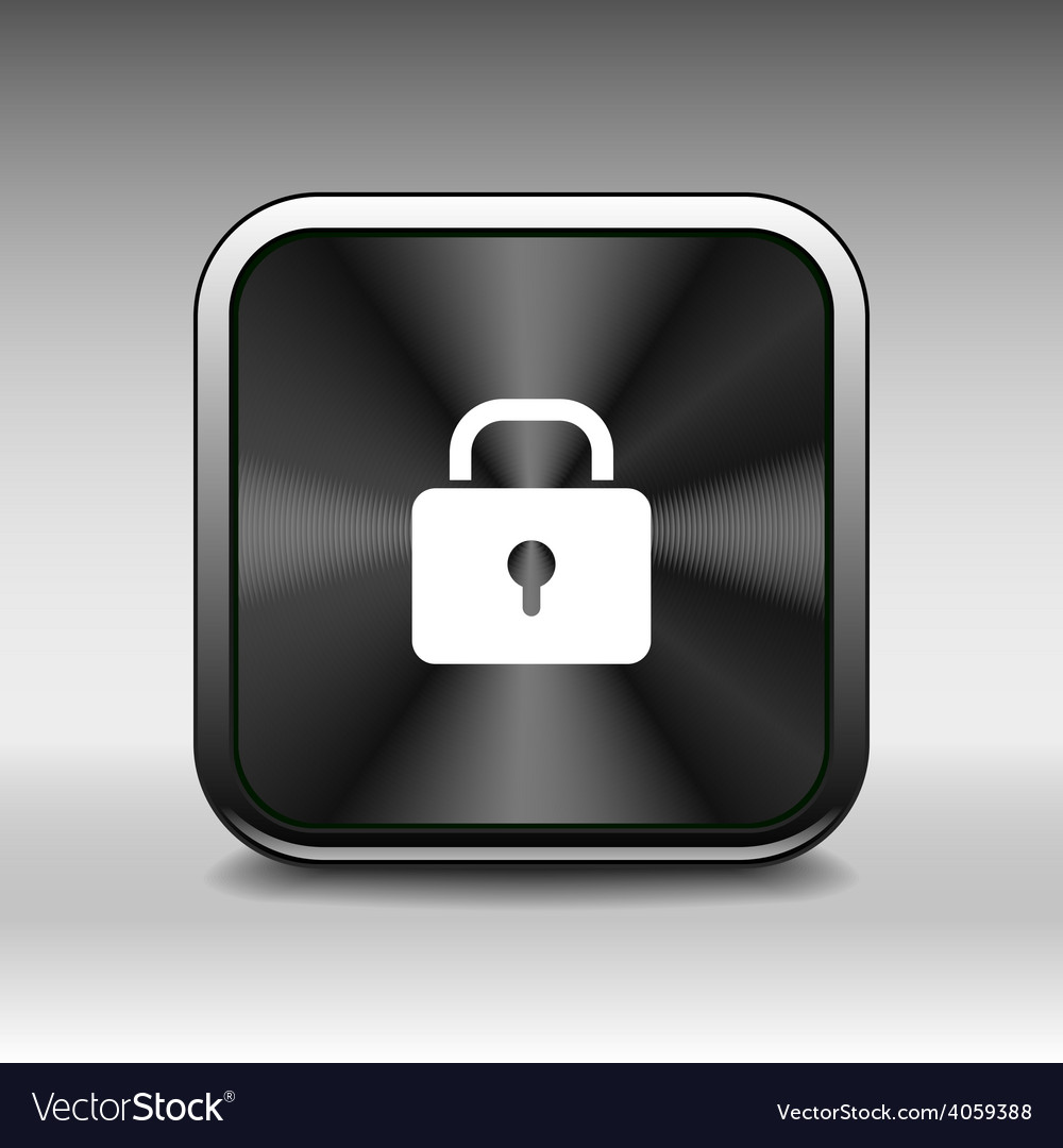 Blue lock icon with protection key password blocke vector | Price: 1 Credit (USD $1)