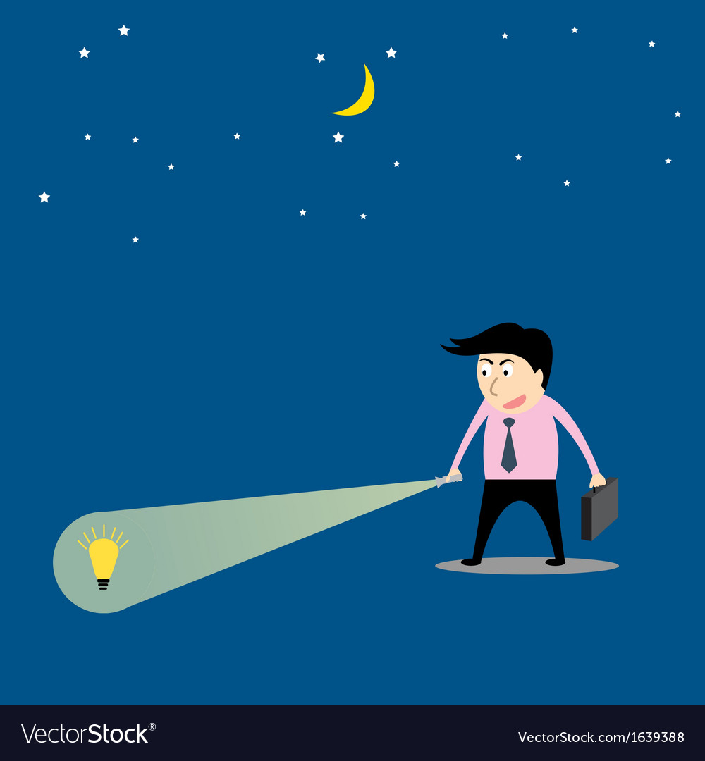 Businessman are searching idea vector | Price: 1 Credit (USD $1)