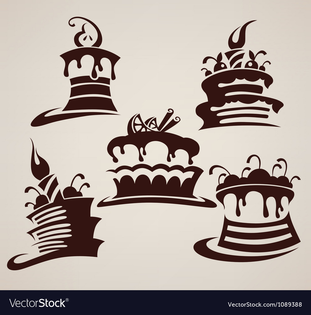 Collection of cakes images and arts vector | Price: 1 Credit (USD $1)