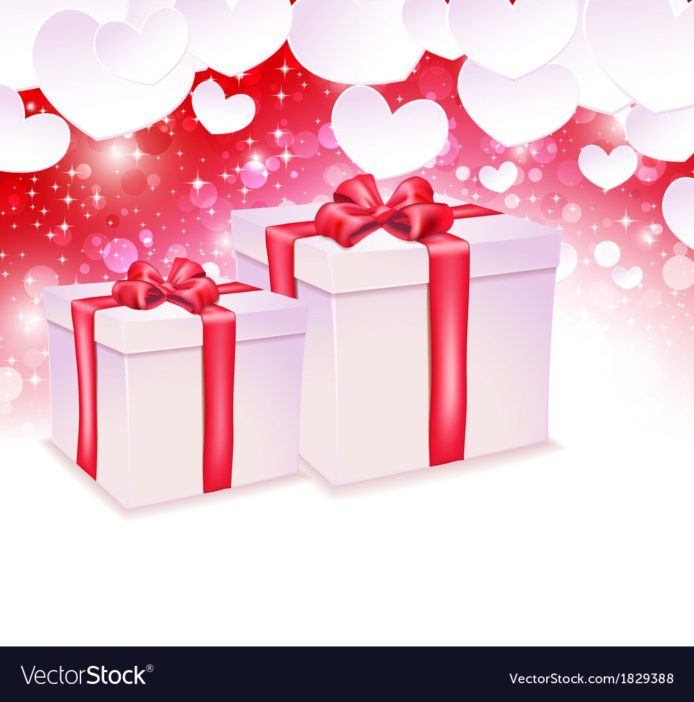 Glowing background with two gift box vector | Price: 1 Credit (USD $1)