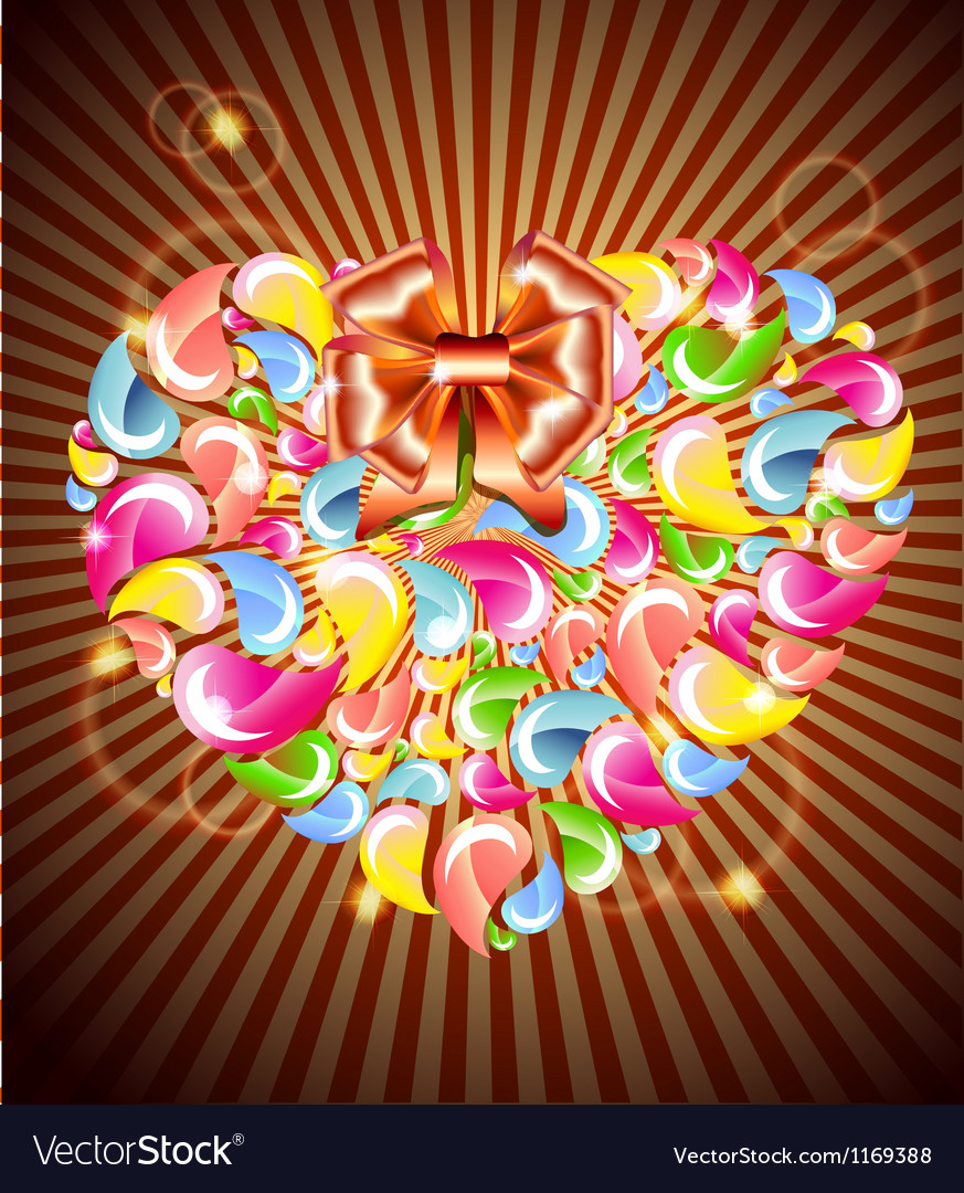 Heart splash and light vector | Price: 1 Credit (USD $1)