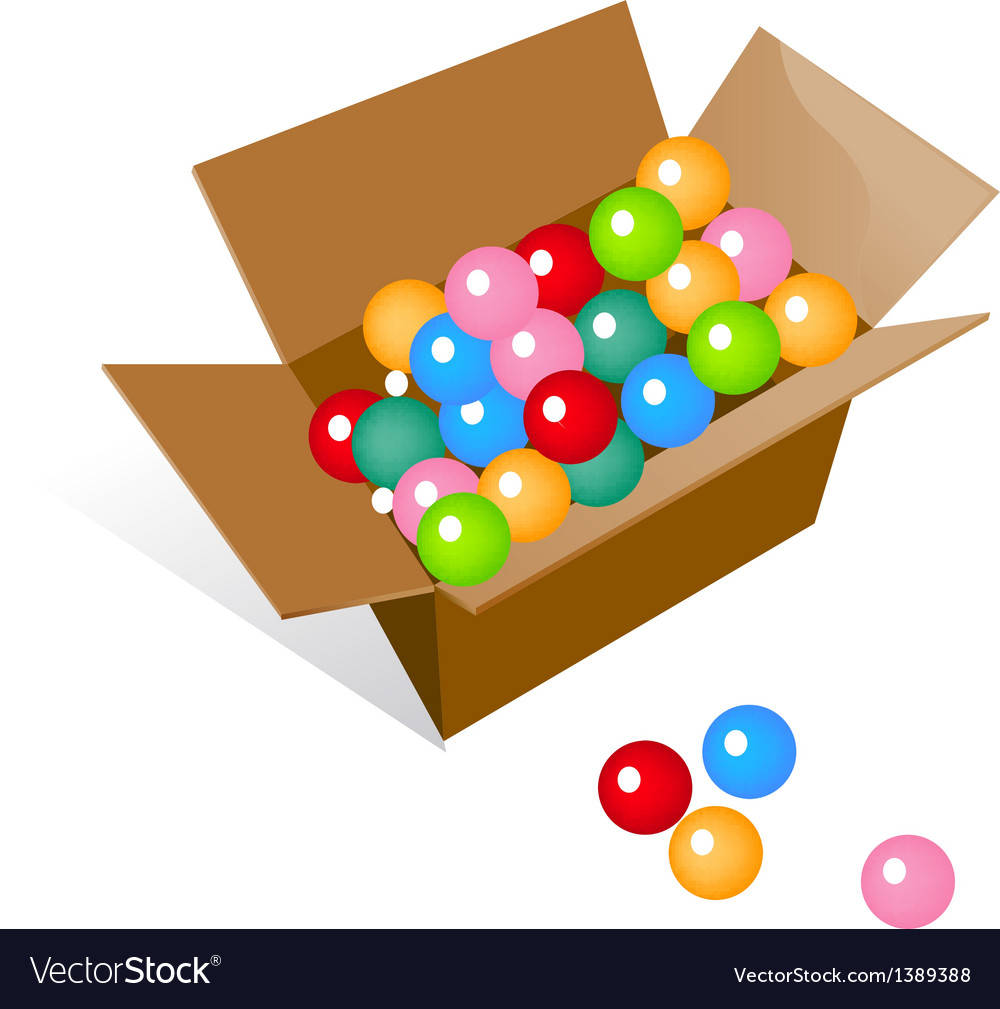Icon balls in the box vector | Price: 1 Credit (USD $1)