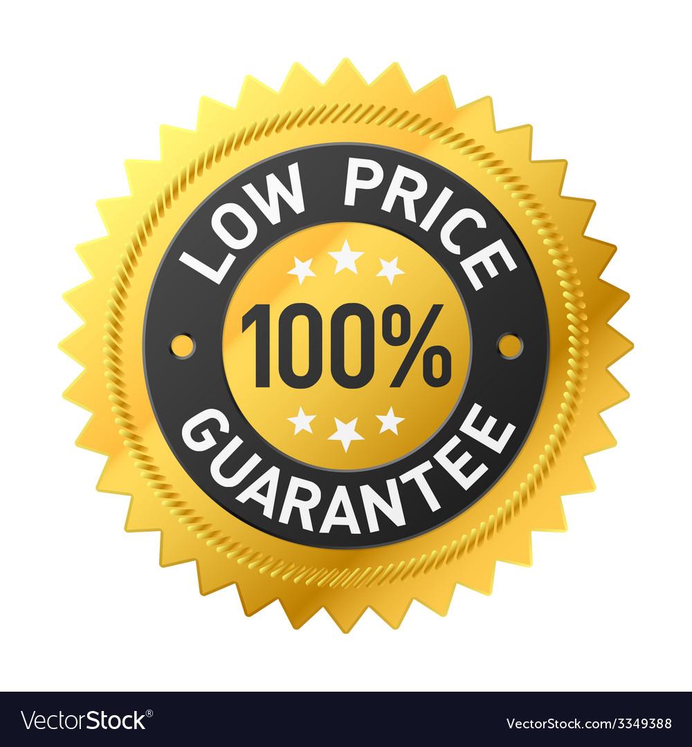 Low price guarantee sticker vector | Price: 1 Credit (USD $1)
