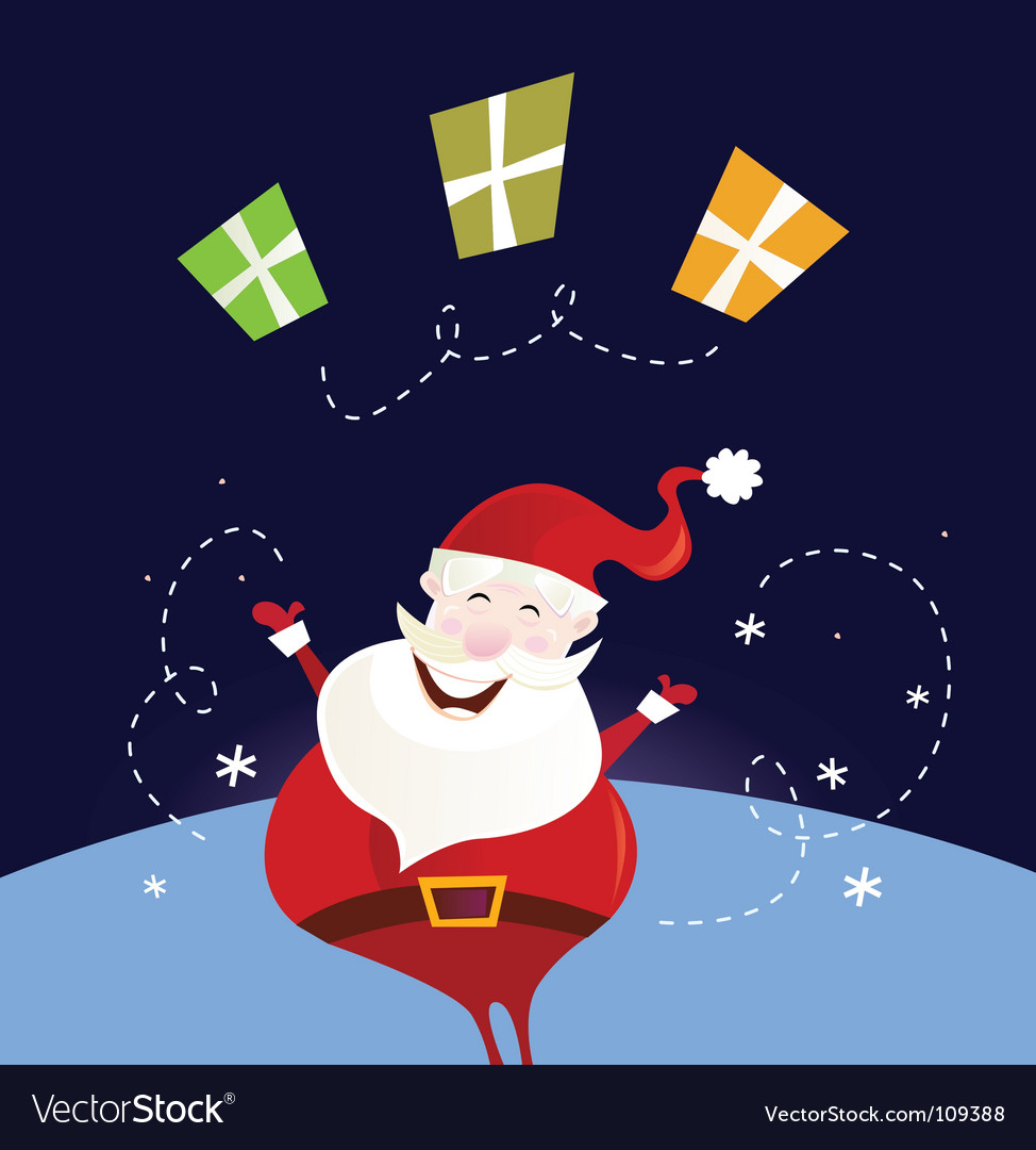 Santa claus with christmas presents vector | Price: 1 Credit (USD $1)