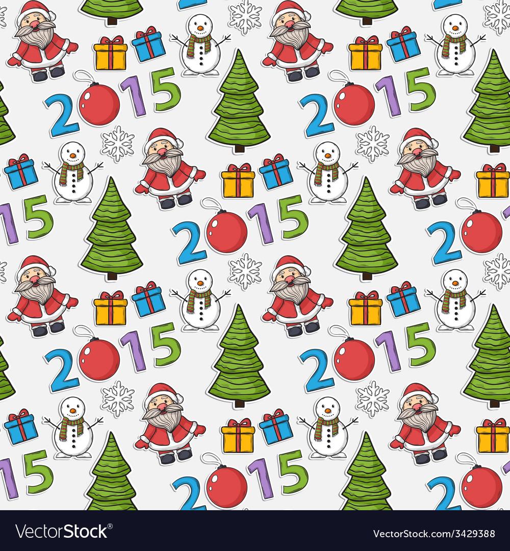 Seamless christmas patternsticker vector | Price: 1 Credit (USD $1)