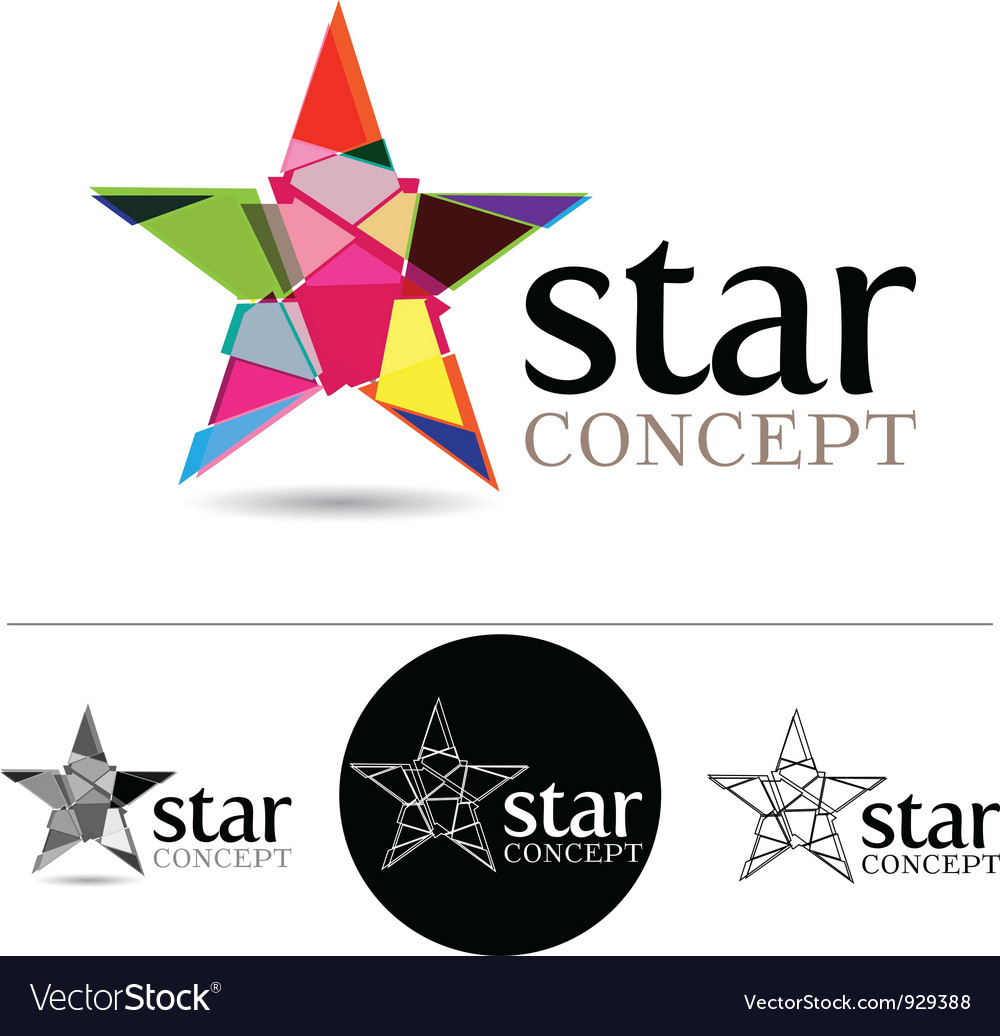Star concept vector | Price: 1 Credit (USD $1)