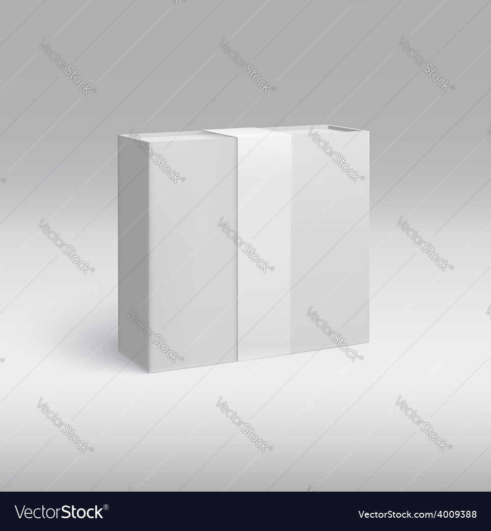 Vertical box with ribbon vector | Price: 1 Credit (USD $1)
