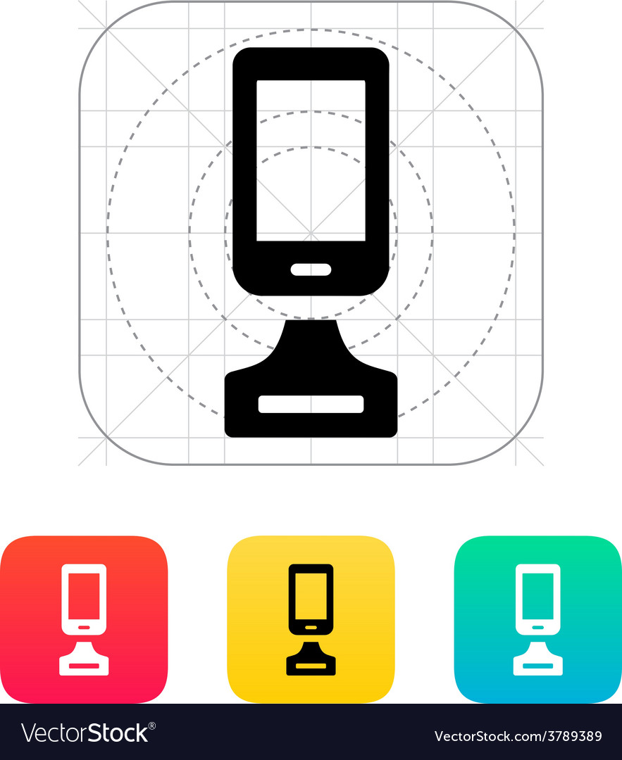 Best phone icon on white background vector | Price: 1 Credit (USD $1)