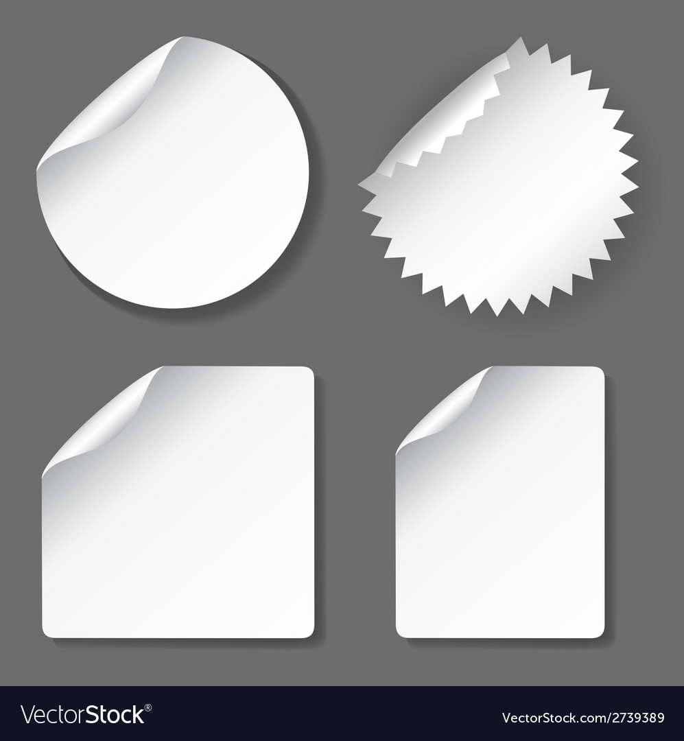 Blank stickers set vector | Price: 1 Credit (USD $1)