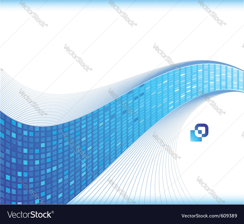 Blue wave - business card template vector | Price: 1 Credit (USD $1)