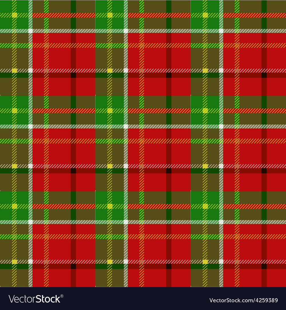 Christmas squared seamless tartan fabric vector | Price: 1 Credit (USD $1)