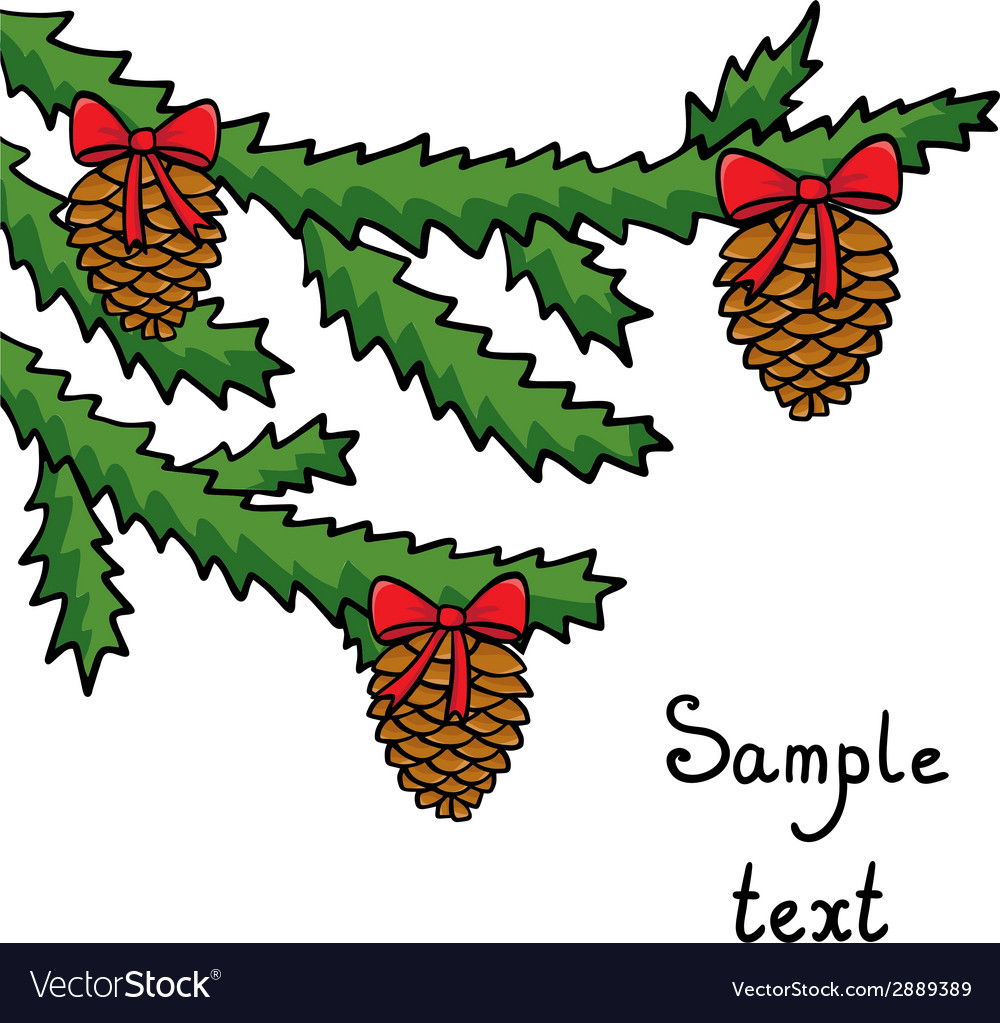 Christmas tree background vector | Price: 1 Credit (USD $1)