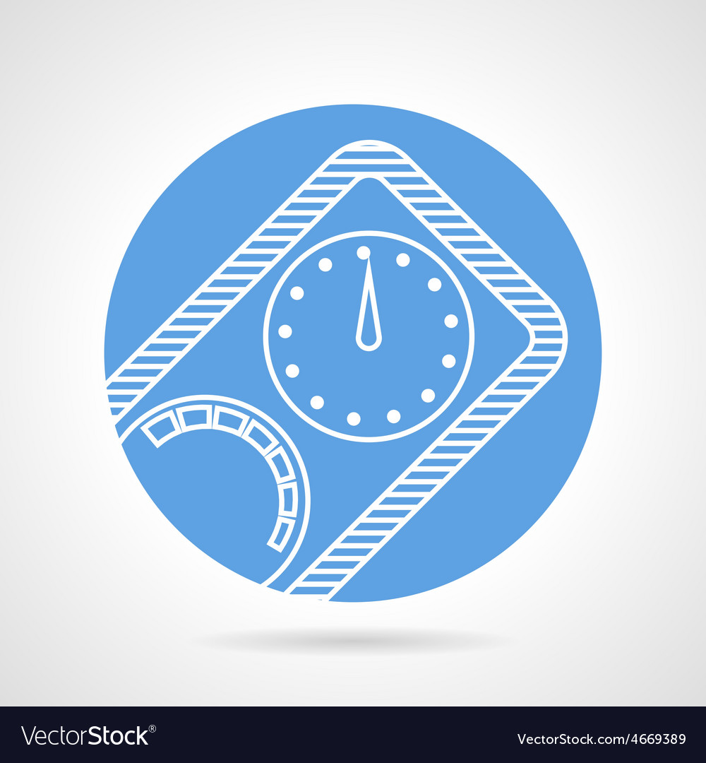 Diving manometer round icon vector | Price: 1 Credit (USD $1)