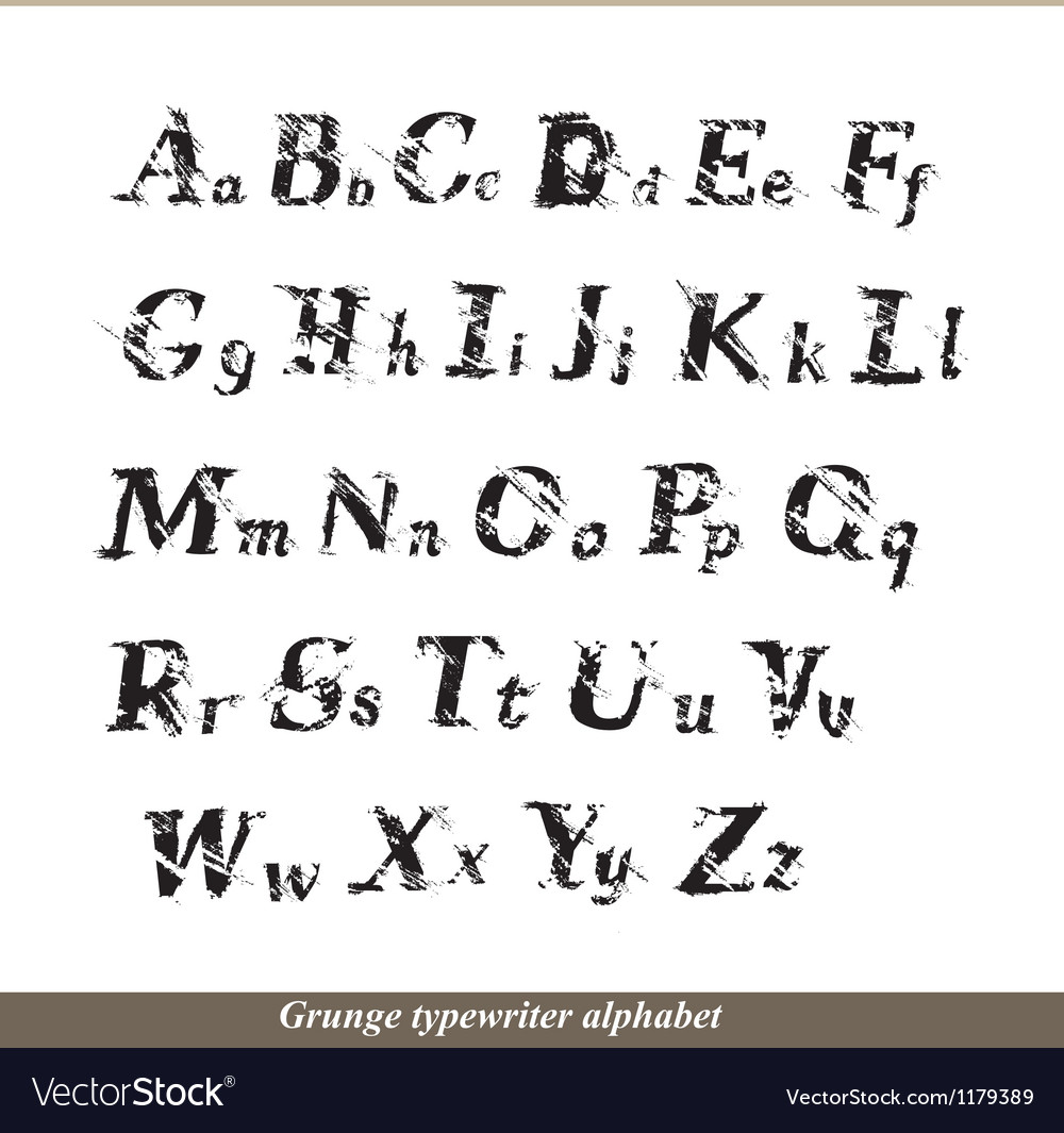 English alphabet - grunge typewritter letters vector | Price: 1 Credit (USD $1)