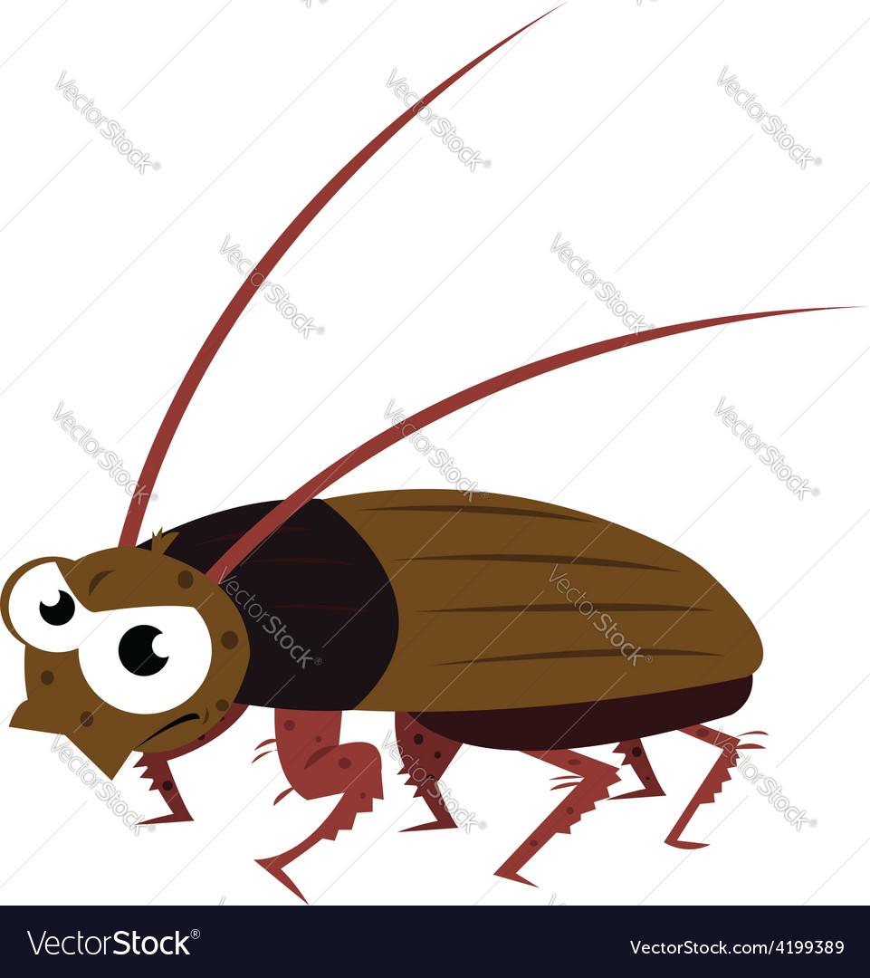 Funny cockroach walking vector | Price: 1 Credit (USD $1)