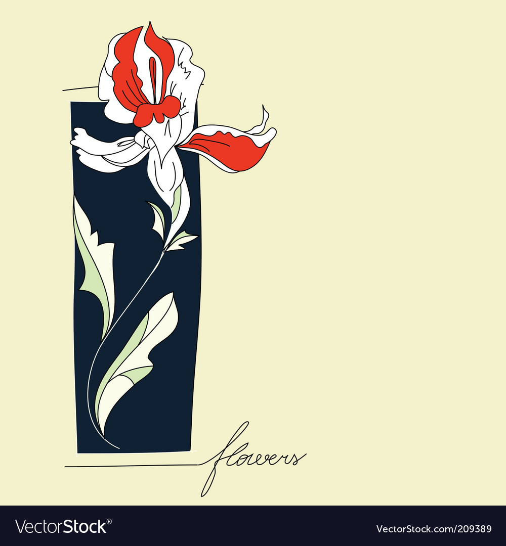 Iris flower vector | Price: 1 Credit (USD $1)