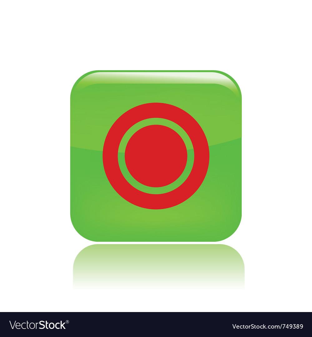 Record button icon vector | Price: 1 Credit (USD $1)