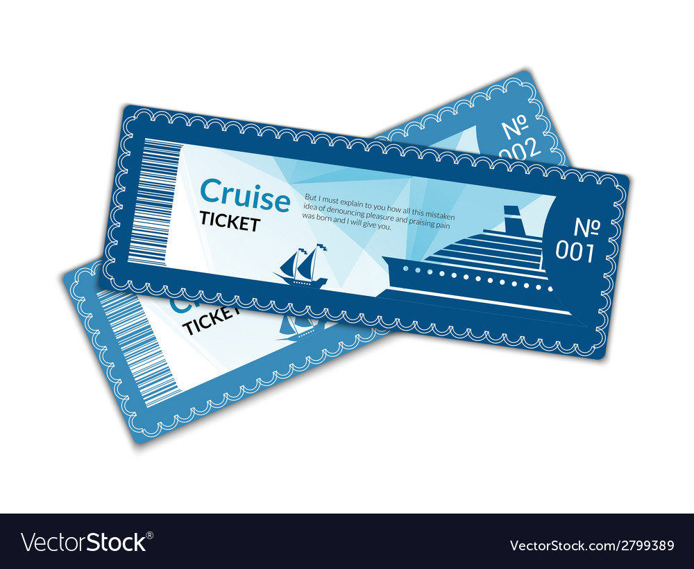 Ship cruise tickets vector | Price: 1 Credit (USD $1)