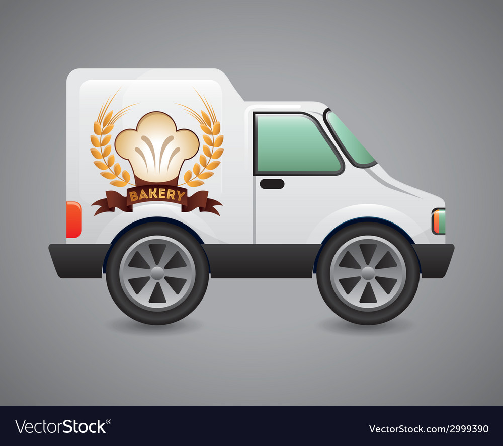 Bakery car design vector | Price: 1 Credit (USD $1)
