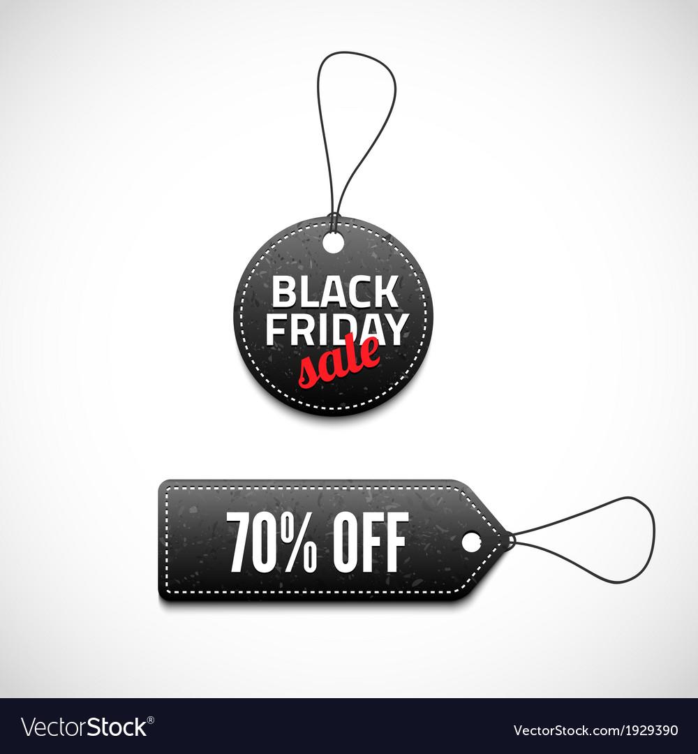 Black friday sales tag set vector | Price: 1 Credit (USD $1)