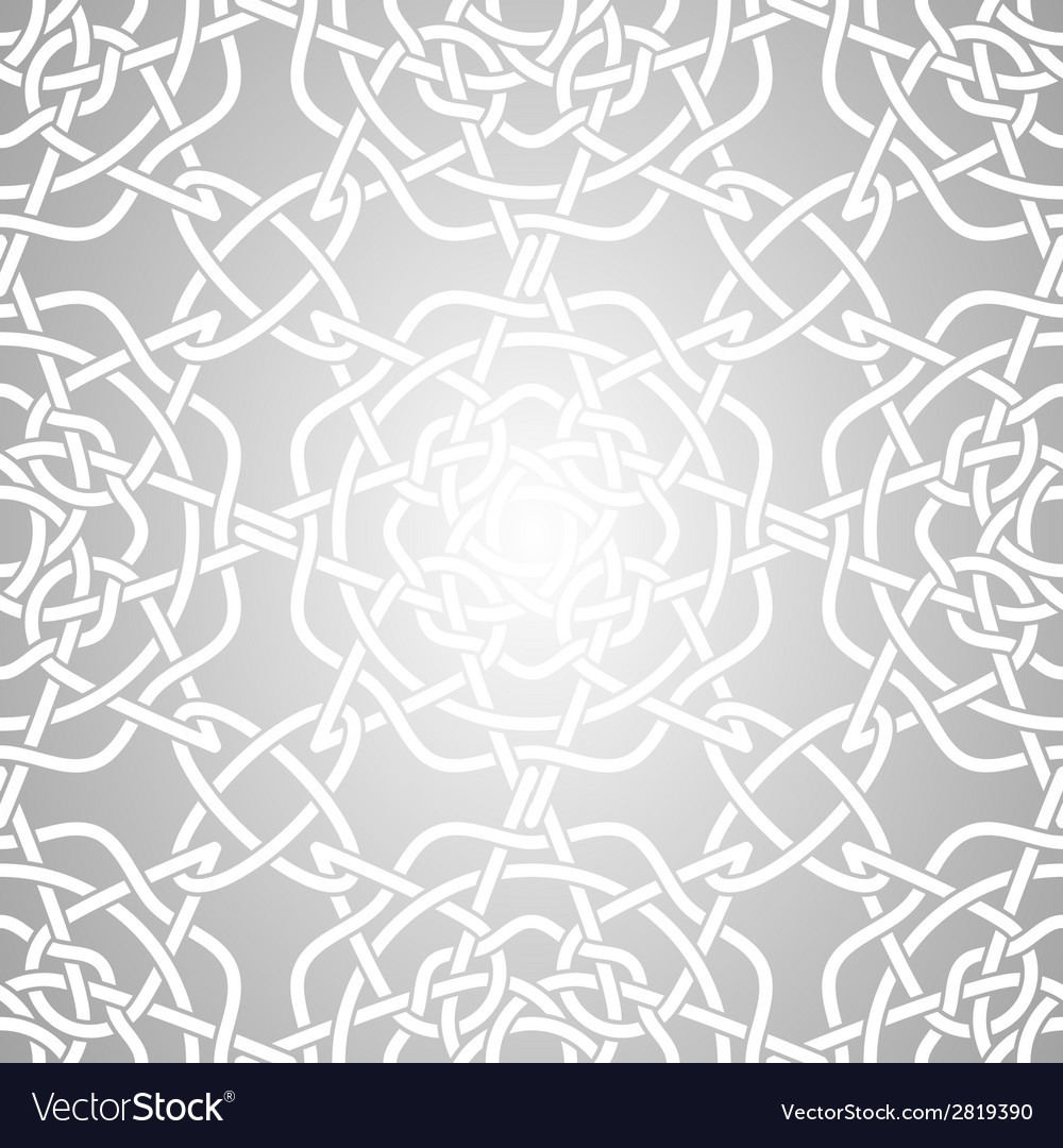 Celtic lacy knot seamless pattern vector | Price: 1 Credit (USD $1)