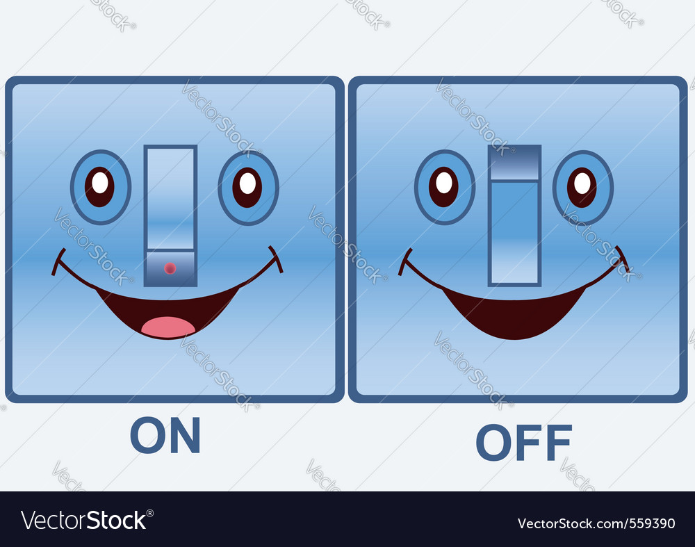 Funny electric switch vector | Price: 1 Credit (USD $1)