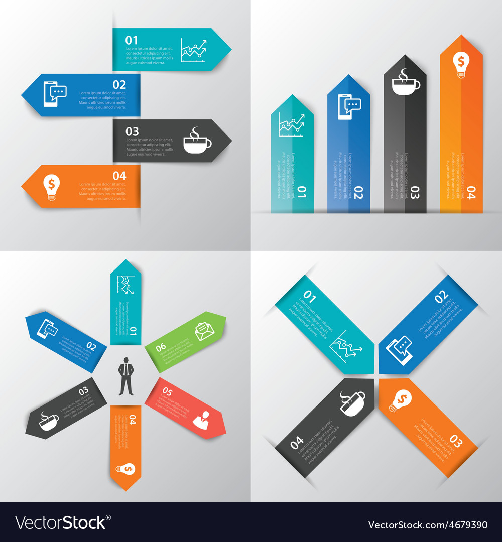 Paper tab infographic vector | Price: 1 Credit (USD $1)