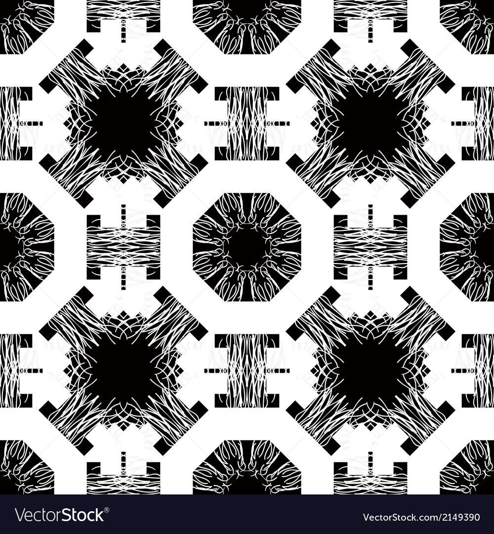 Seamless pattern with white tracery on a black vector | Price: 1 Credit (USD $1)