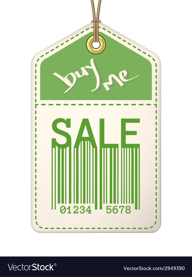 Vintage sale tag with stitches vector | Price: 1 Credit (USD $1)