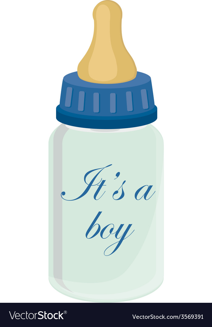 Baby bottle for boy vector | Price: 1 Credit (USD $1)