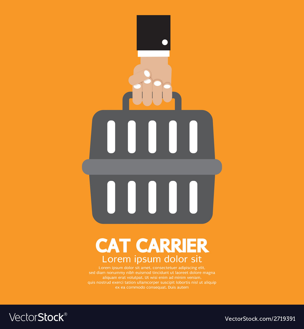 Cat carrier vector | Price: 1 Credit (USD $1)