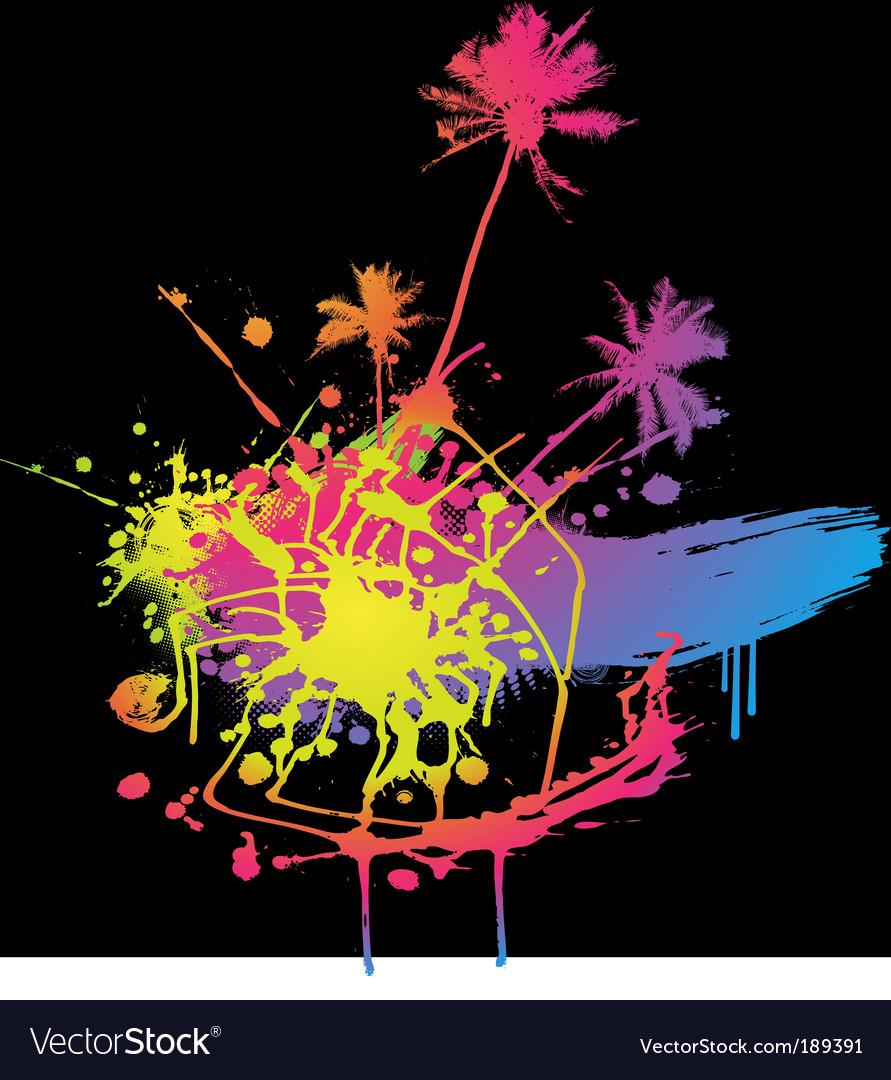 Colored splash vector | Price: 1 Credit (USD $1)