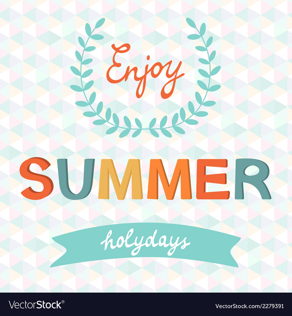 Enjoy summer typography vector | Price: 1 Credit (USD $1)