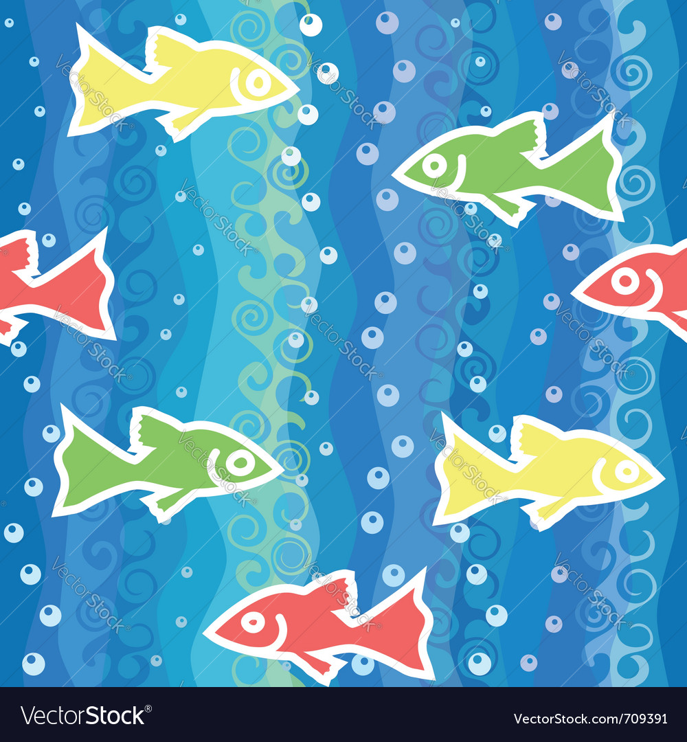 Fish swim in the sea vector | Price: 1 Credit (USD $1)